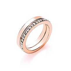 Buckley London - Gold rose gold ring duo