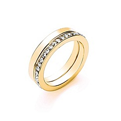 Buckley London - Gold gold ring duo