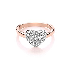 Buckley London - Silver miniature heart ring