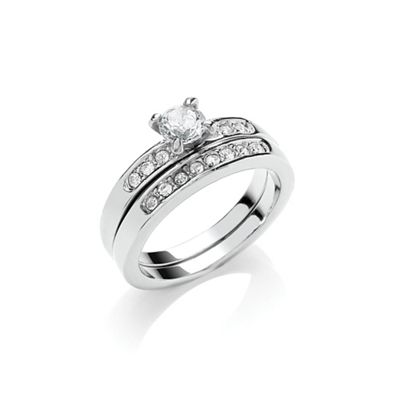 Buckey ondon Siver wedding ring duo - . -