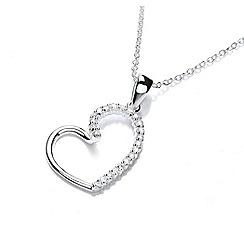 Buckley London - Silver heart loop pendant