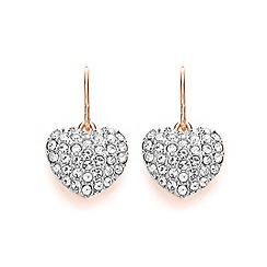 Buckley London - Silver miniature heart drop earrings