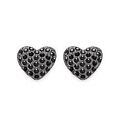 Buckley London - Silver miniature heart stud earrings