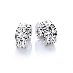 Buckley London - Silver chunky huggie earrings