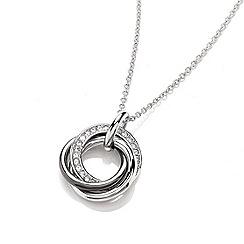 Buckley London - Silver black russian pendant