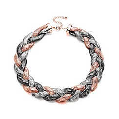 Buckley London - Multicoloured plaited necklace