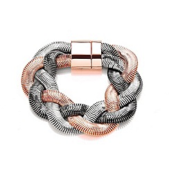 Buckley London - Multicoloured plaited bracelet