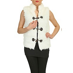Pussycat London - White faux fur gilet