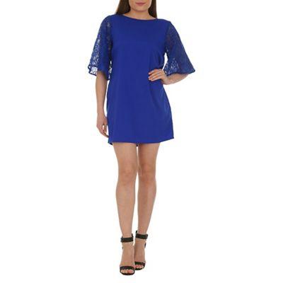 Ayarisa Blue angel sleeve shift dress - . -