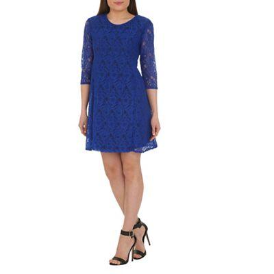 Ayarisa Blue goldie lace swing dress - . -