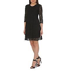 Ayarisa - Black goldie lace swing dress