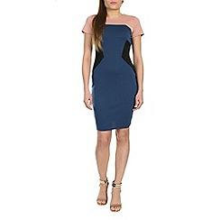 Sugarhill Boutique - Navy holly panelled dress
