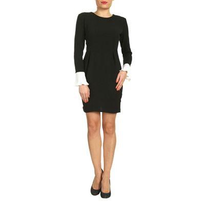 Amaya Black black dress with pleated cuff - . -