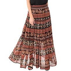 Alice & You - Brown printed maxi skirt