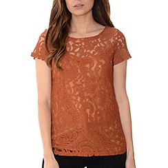 Alice & You - Sand lace layer tee