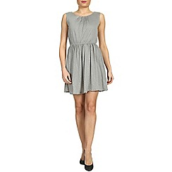 Tenki - Grey porse print dress