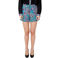 Wolf & Whistle - Multicoloured blossom print shorts