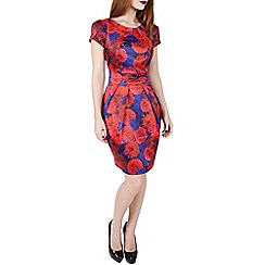 Wolf & Whistle - Red floral tailored dress