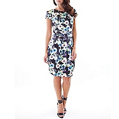 Wolf & Whistle - Multicoloured floral print tailored dress