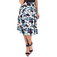 Wolf & Whistle - Multicoloured floral circle skirt