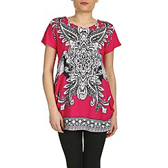 Izabel London - Pink flower printed top
