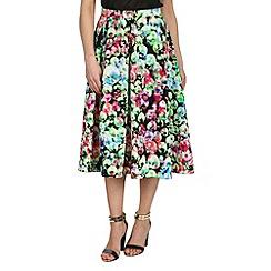 Cutie - Black pearl print midi skirt