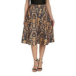 Cutie - Blue jacquard print skirt