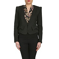 Cutie - Black flap detail fitted blazer
