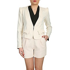 Cutie - Cream flap detail fitted blazer