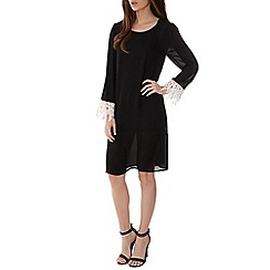 Alice & You - Black crochet cuff shift dress