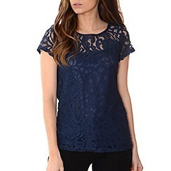 Alice & You - Navy lace layer tee