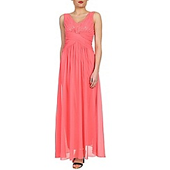 Alice & You - Peach ruched waist maxi dress