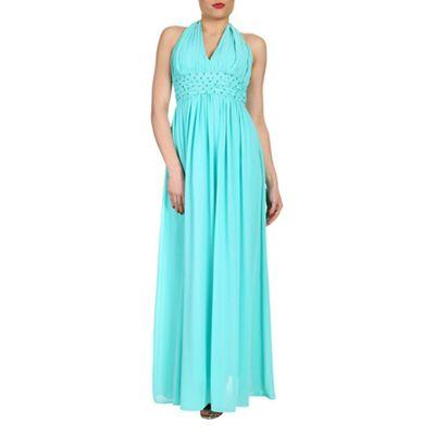 Alice & You Aqua halterneck maxi dress - . -