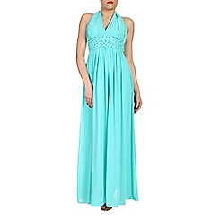 Alice & You - Aqua halterneck maxi dress