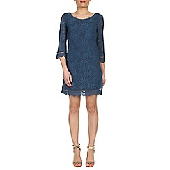 Izabel London - Blue crochet tunic dress
