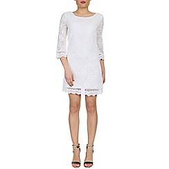 Izabel London - Cream crochet tunic dress