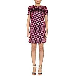 Izabel London - Pink daisy print dress