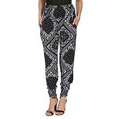 Izabel London - Multicoloured geometric print trousers