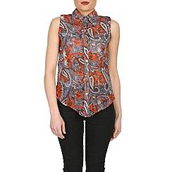 Izabel London - Orange paisley shirt