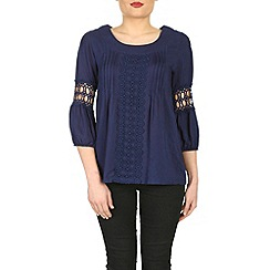 Izabel London - Navy 3/4 sleeve top