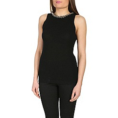 Jumpo London - Black sleeveless head neck jumper