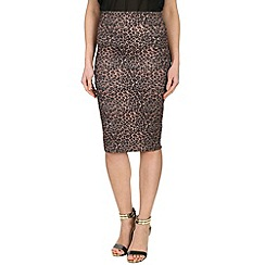 Jumpo London - Multicoloured leopard print bodycon skirt
