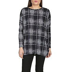 Voulez Vous - Black checked oversized top