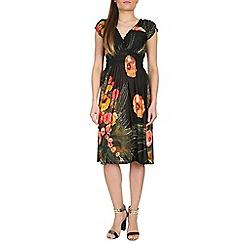 Izabel London - Orange crossover floral dress