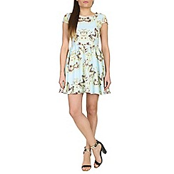 Izabel London - Light blue butterfly printed dress