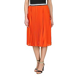 Izabel London - Orange pleated skirt