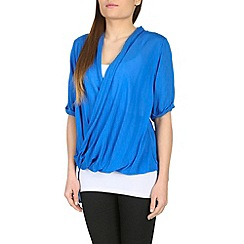 Izabel London - Blue cross-over front top