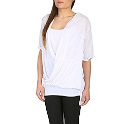Izabel London - White cross-over front top