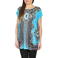 Izabel London - Blue glamourous printed top
