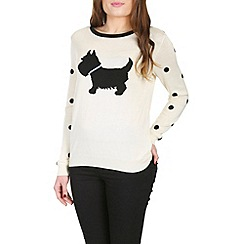 Sugarhill Boutique - Off white scottie sweater
